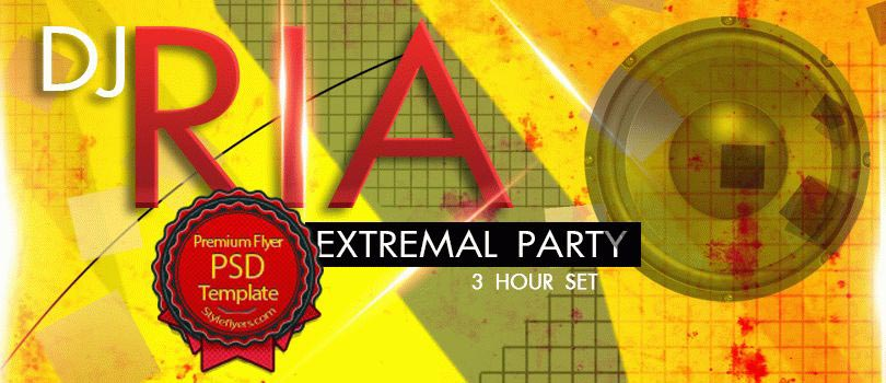 Dj RIA Party PSD Flyer Template