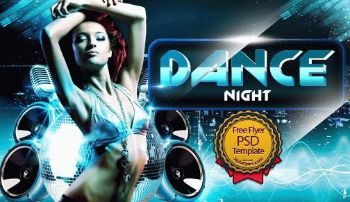 Dance Night Free Psd Flyer