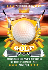 Golf-sport-flyer