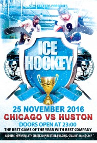 Ice-Hockey-sport-flyer