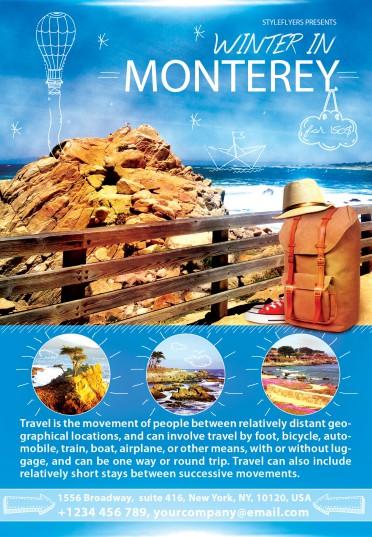 Winter-in-Monterey—travel-flyer