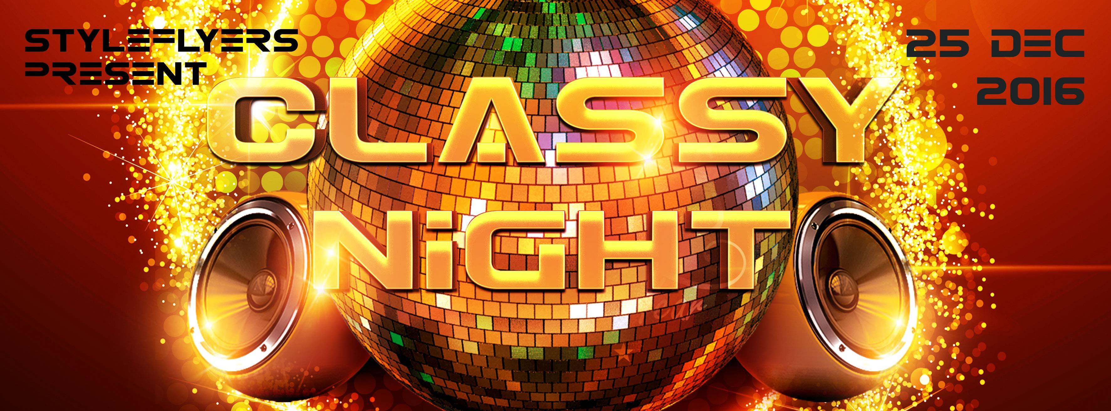 Classy Night  PSD Flyer Template