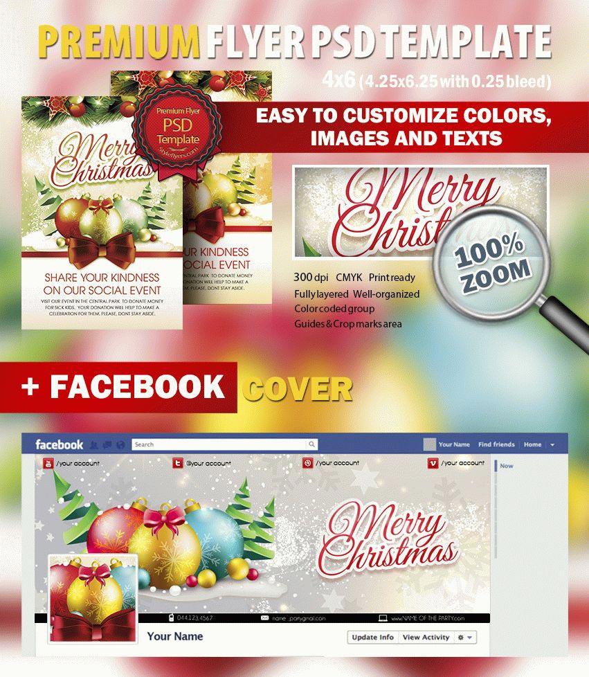 Social Christmas Event PSD Flyer Template