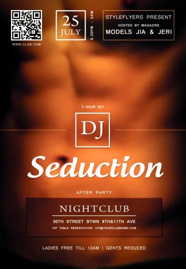 seduction flyer