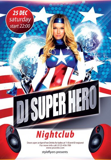 Dj-Super-Hero-flyer