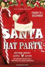Santa hat party