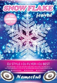 Snow-flake-fesival-flyer