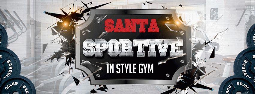 Sportive Santa PSD Flyer Template