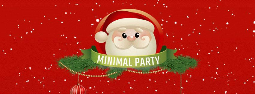 Minimal Christmas Party PSD Flyer Template