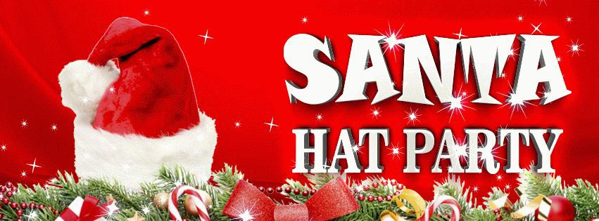 Santa hat PSD Flyer Template