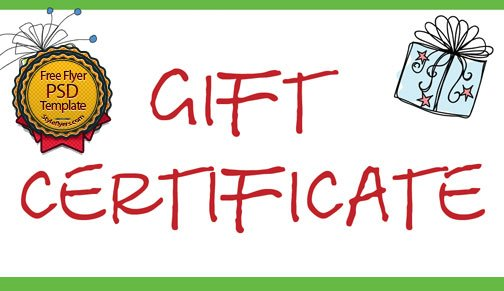Gift Certificate Flyer