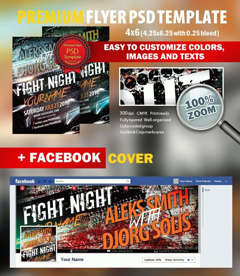luxury Party Night PSD Flyer Template