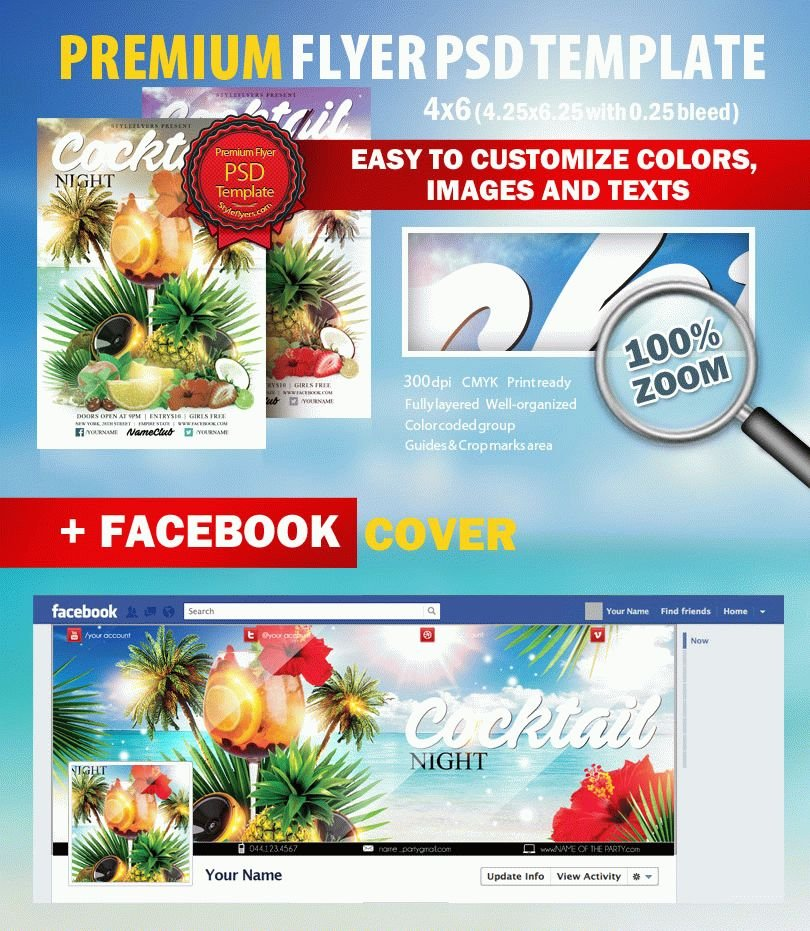 Snow Flake Fesival PSD Flyer Template