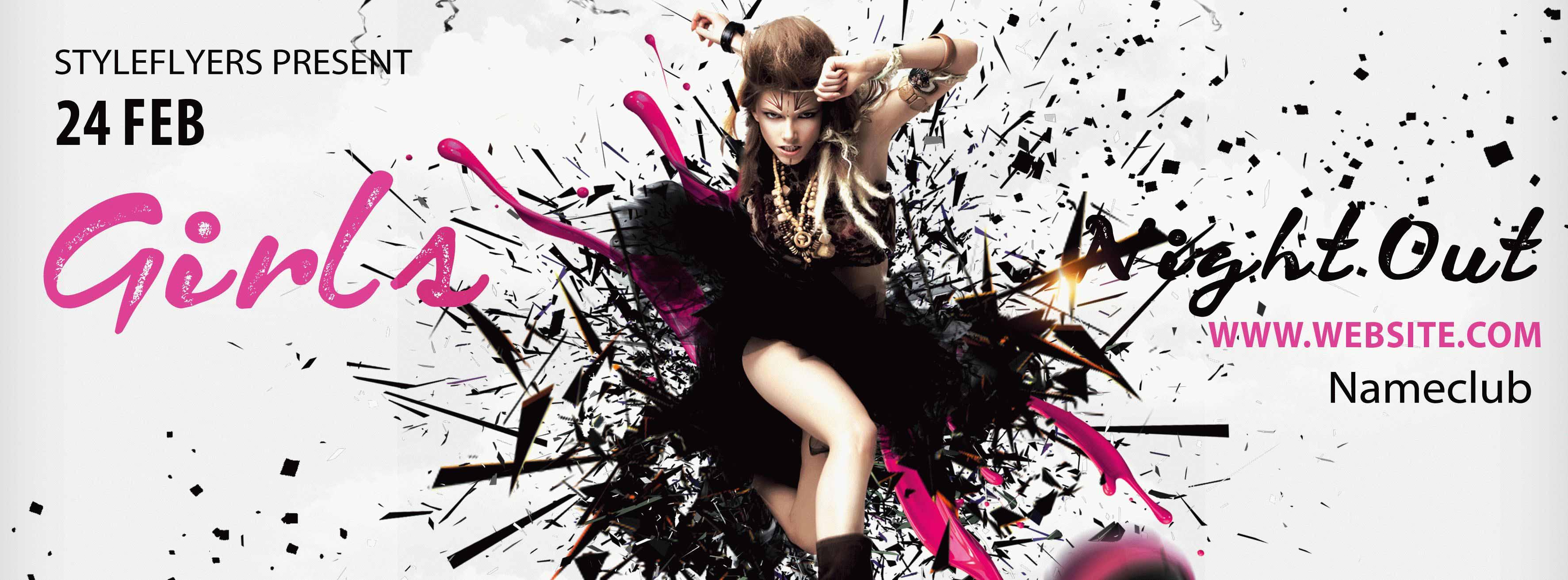 Hot Dance Night PSD Flyer Template