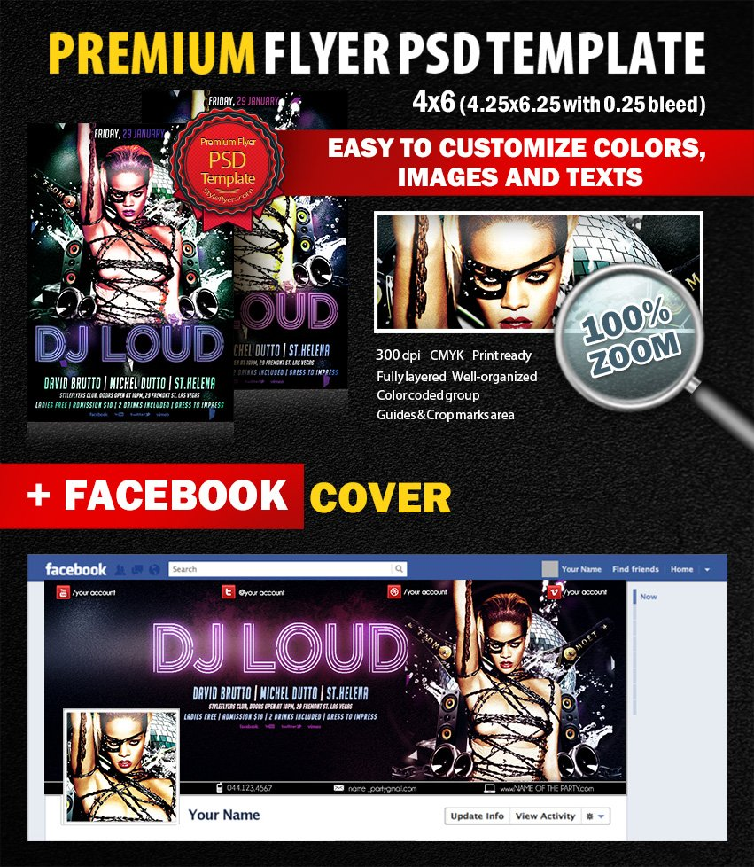 Dj Loud PSD Flyer Template