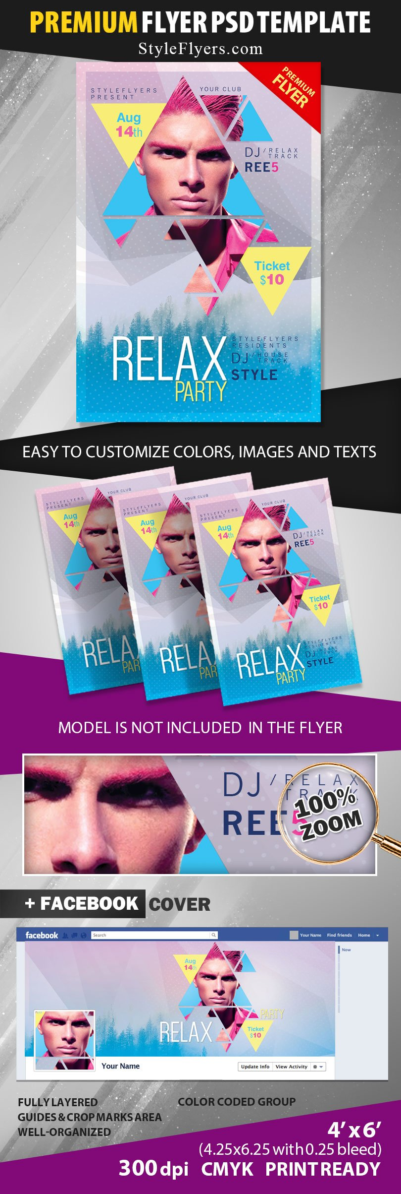 Relax Party PSD Flyer Template