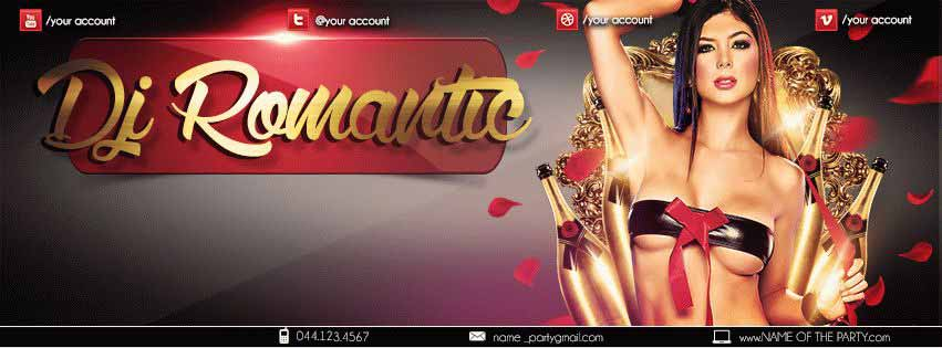 Dj Romantic PSD Flyer Template