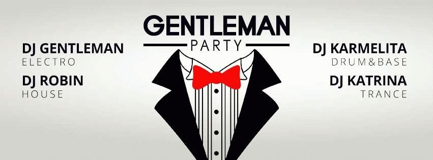Gentleman Party PSD Flyer Template