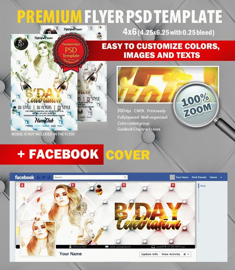 Satisfaction Guaranteed Party PSD Flyer Template
