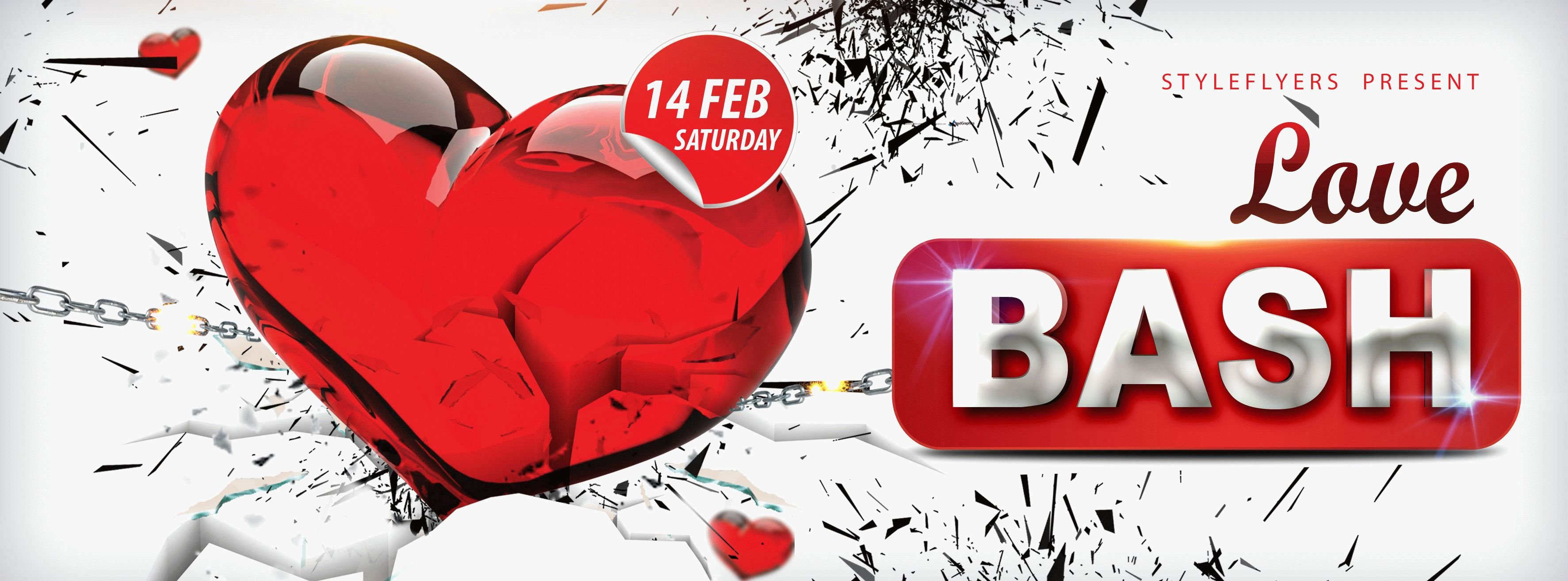 Love Bash PSD Flyer Template
