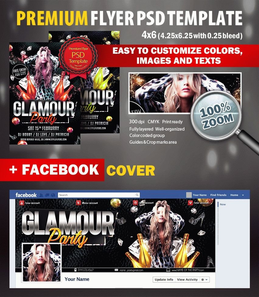 Glamour PSD Flyer Template