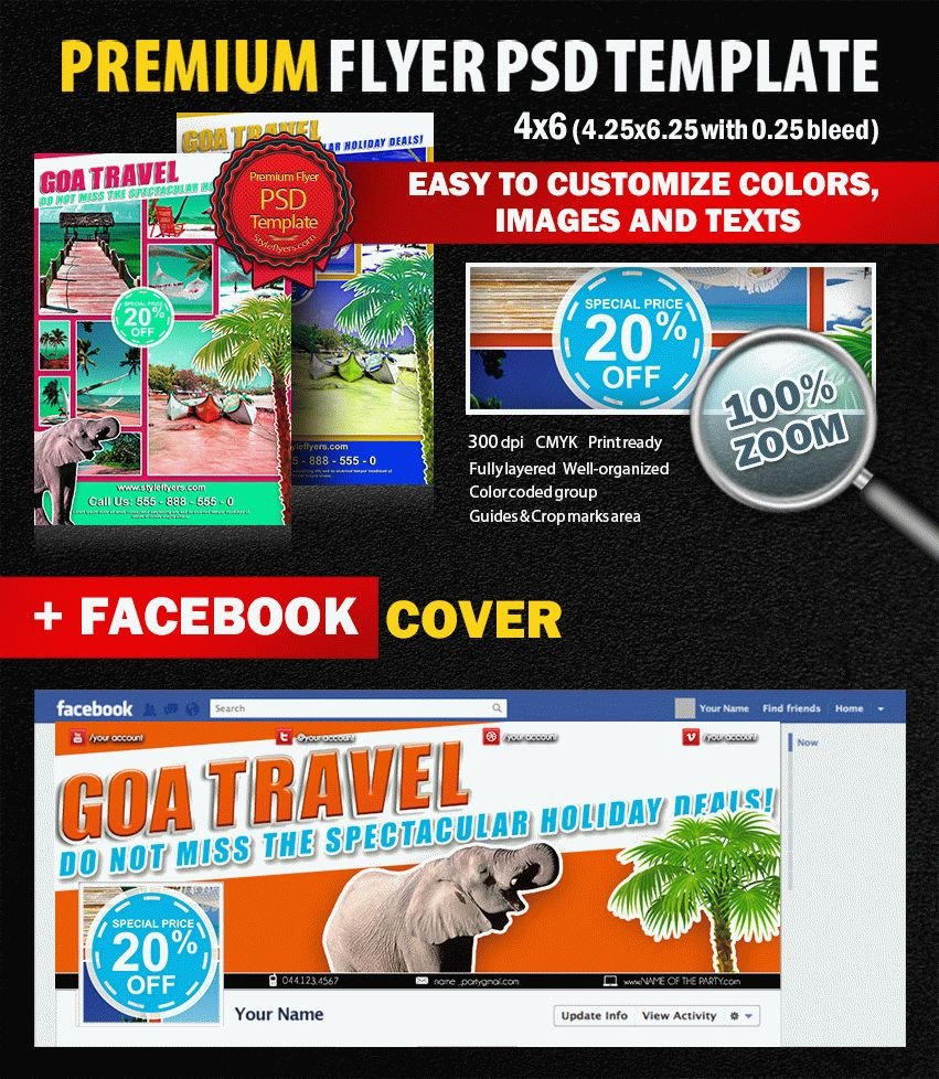 GOA Travel PSD Flyer Template