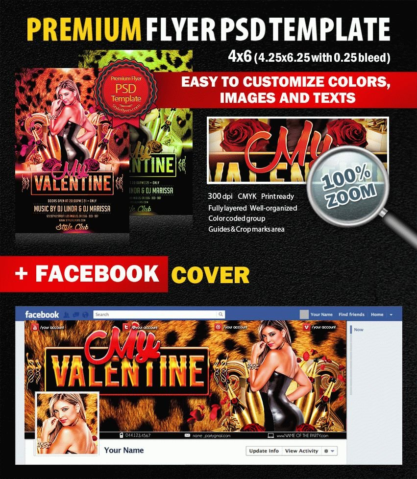 My Valentine PSD Flyer Template