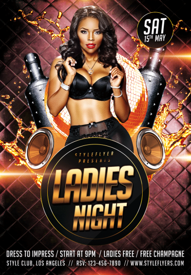 Ladies Night Psd Flyer Template 5907 Styleflyers