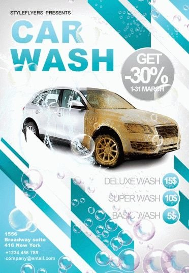 Car Wash Psd Flyer Template 6214 Styleflyers