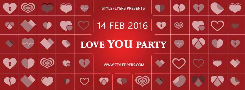 Love You Party PSD Flyers Templats SET