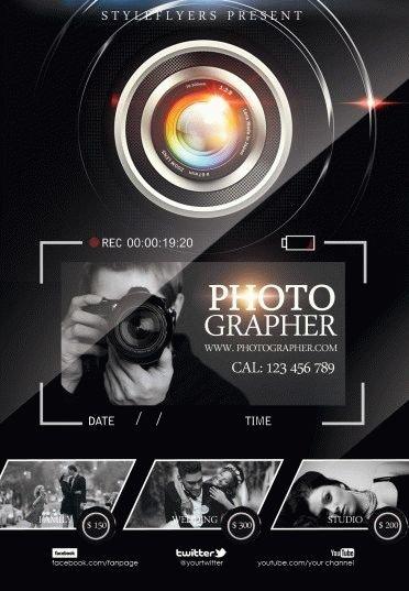 Photographer PSD Flyer Template #6004 - Styleflyers