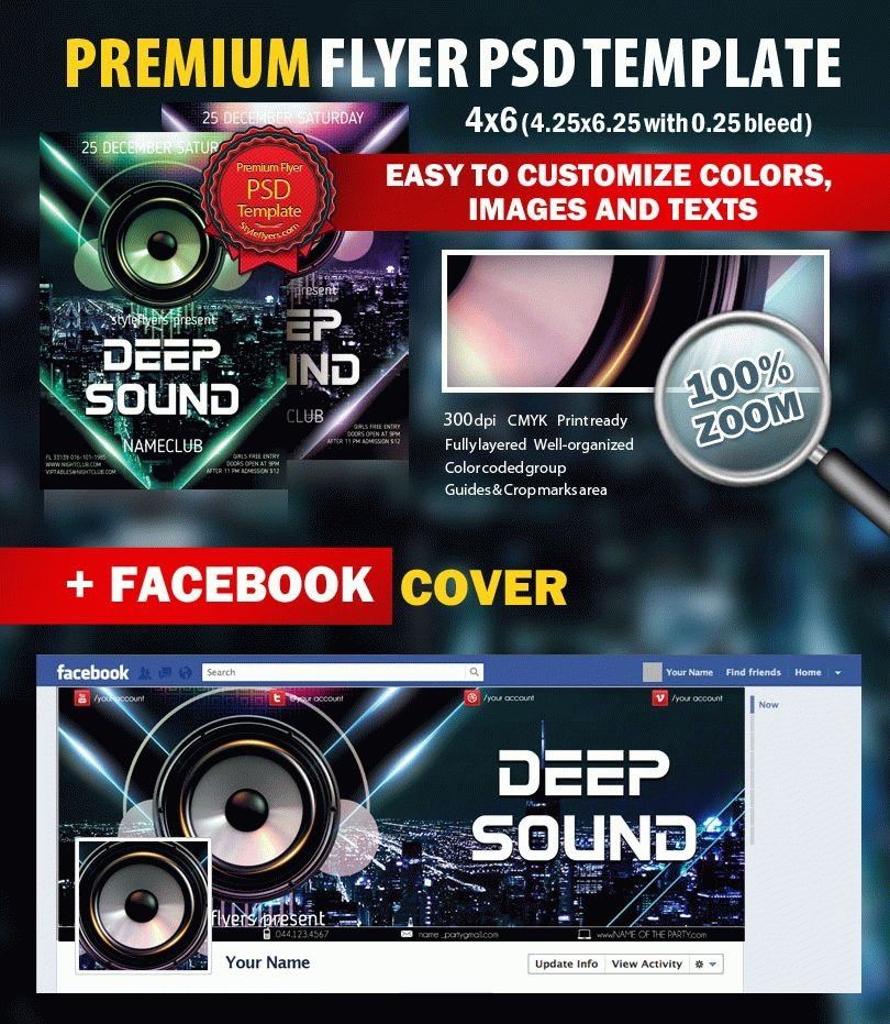 The Magnificent Seven PSD Flyer Template