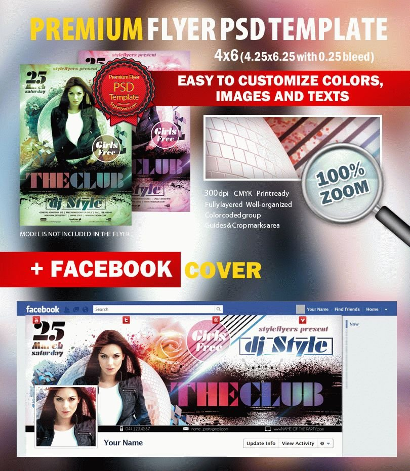 The Club PSD Flyer Template
