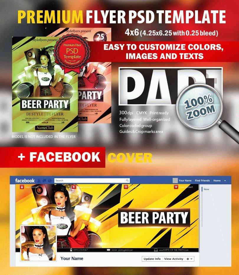 Beer Night PSD Flyer Template