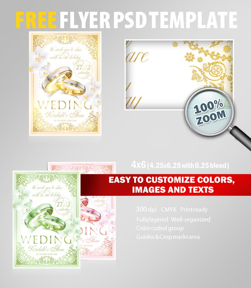 Wedding Flyer Psd Template Free Download 5972 Styleflyers