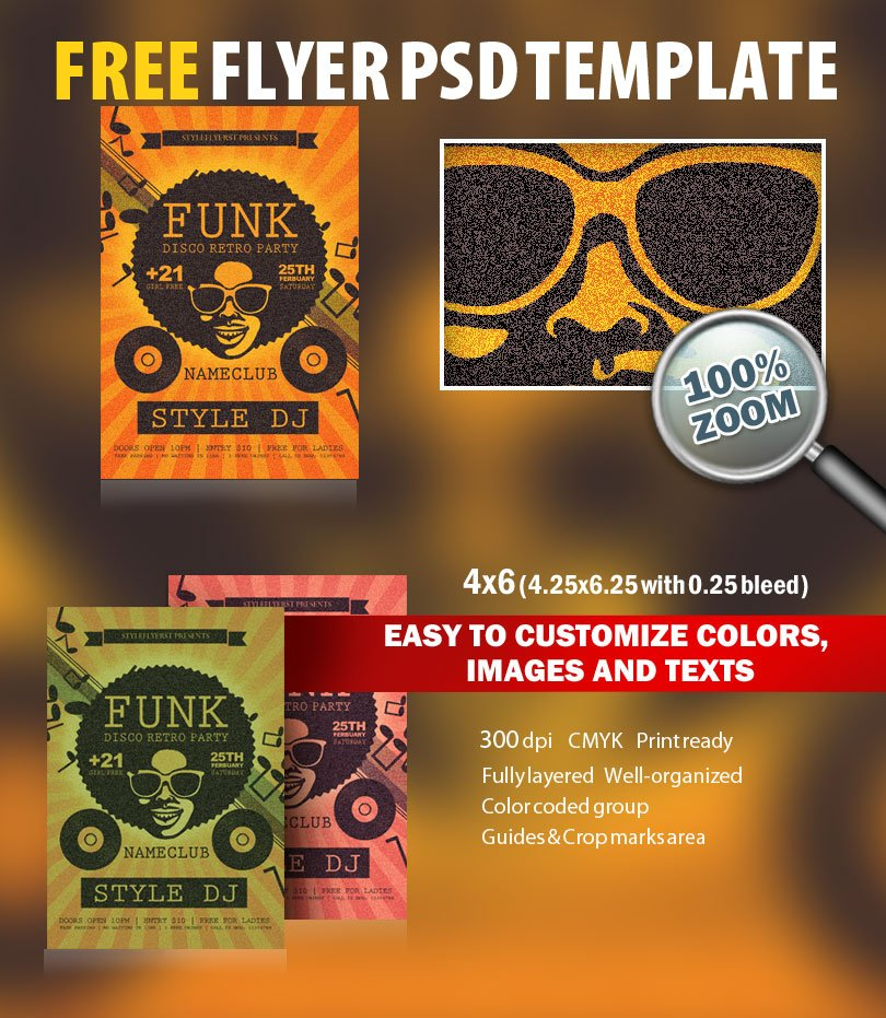 Funk Psd Flyer Template Free Download   Styleflyers