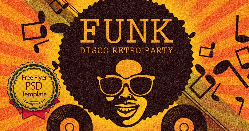 funk psd flyer template free download  6119
