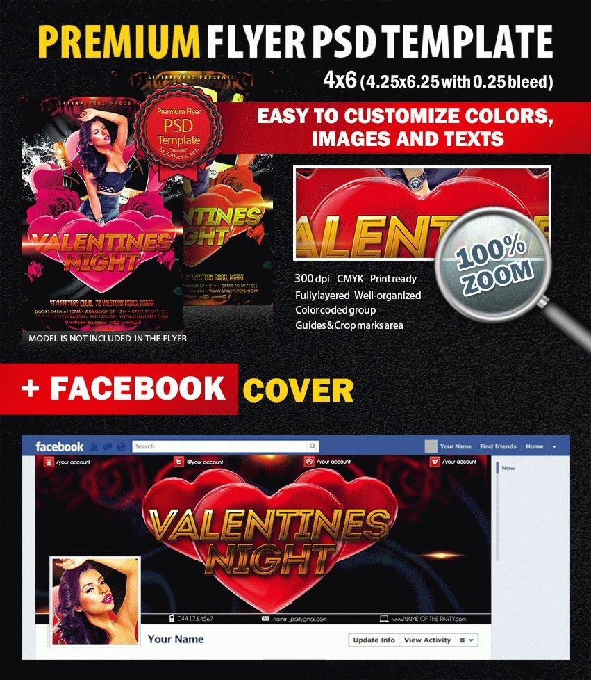 Valentines Night PSD Flyer Template