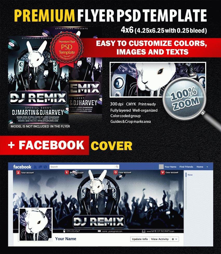 Dj Remix PSD Flyer Template