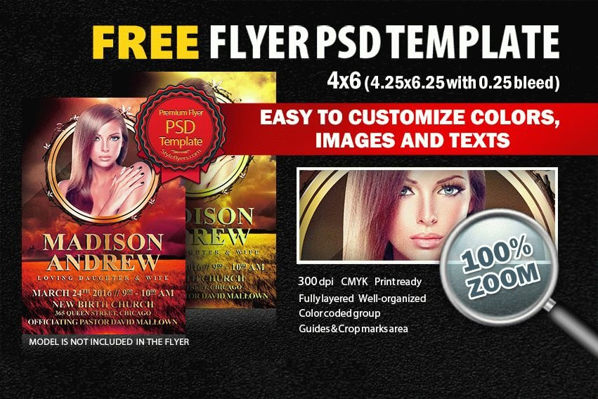 Funeral Flyer Psd Template Free Download 6062 Styleflyers