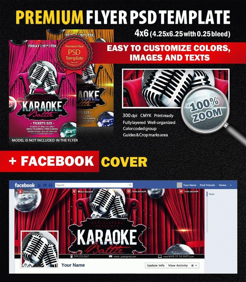 Karaoke Battle Party PSD Flyer Template