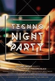 techno night party