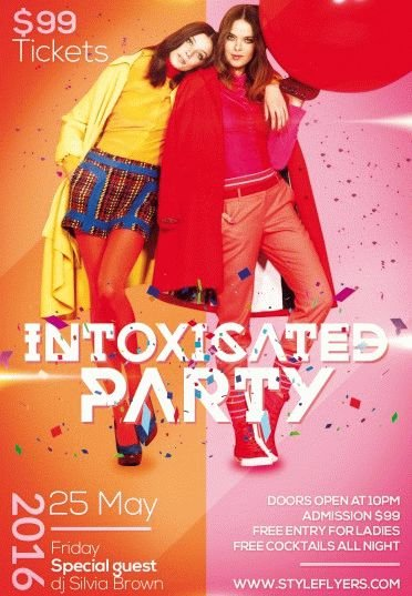 Intoxicated PSD Flyer Template