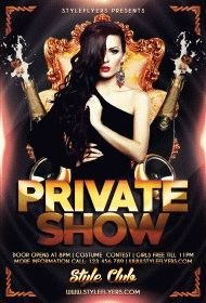 Private show PSD Flyer Template