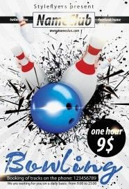 bowling flyer template free