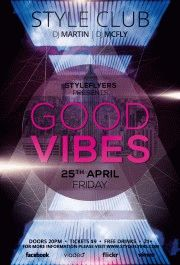 good vibes PSD Flyer Template