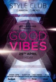good vibes PSD Flyer Template