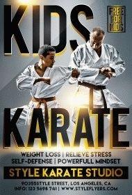 karate PSD Flyer Template