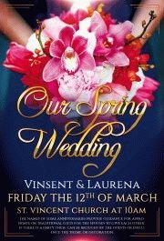 our spring wedding