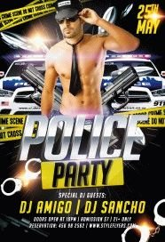 police party PSD Flyer Template